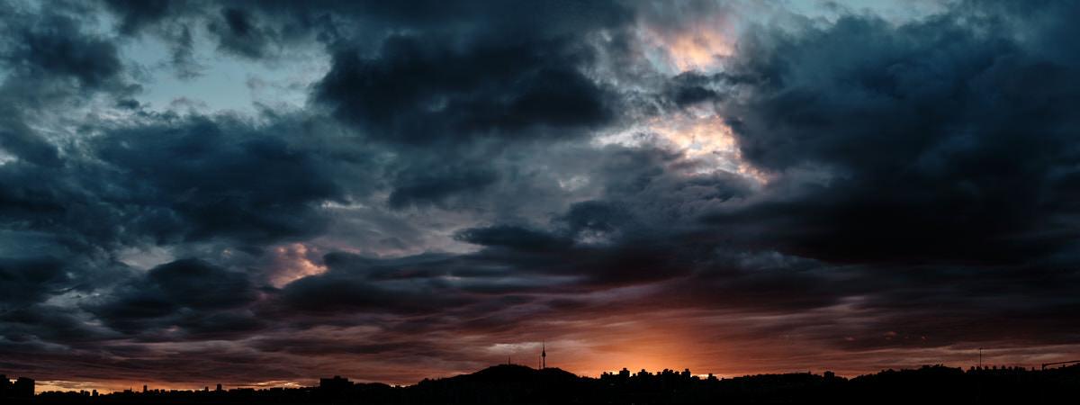Post Monsoon Panorama Sunset - Fujifilm X100F