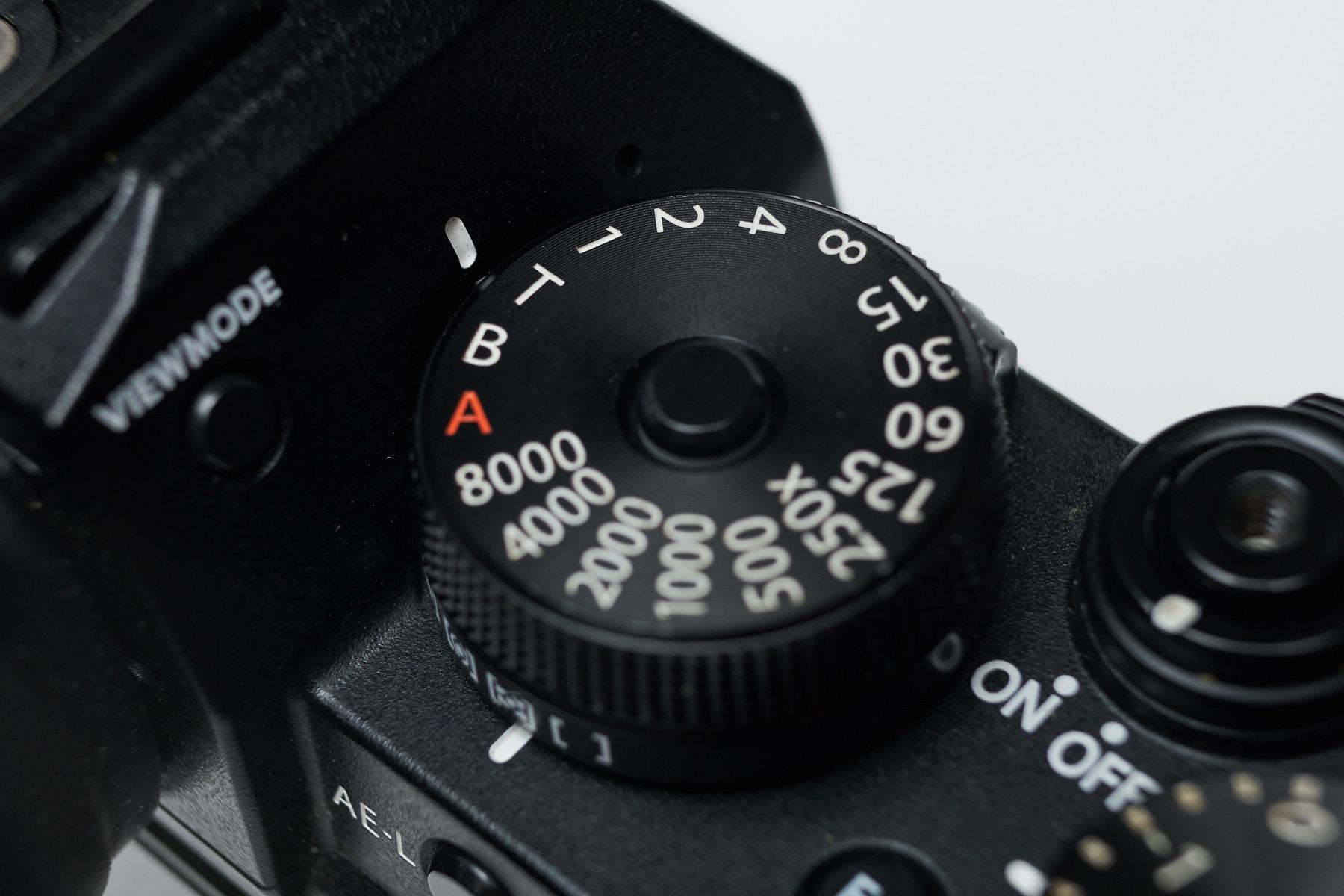 Fujifilm Shutter Speed Dial T